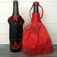 Свадебная одежда на шампанское красная