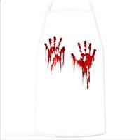 Фартук Хэллоуин Кровавые ладошки, габардин 73х54 см, пр-во Украина