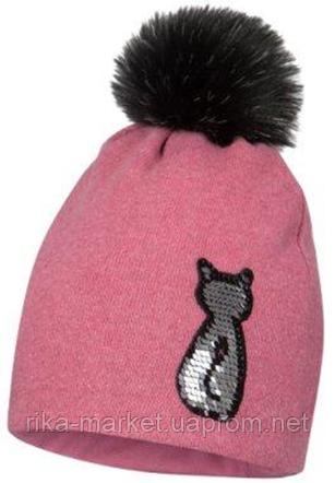Зимняя шапка для девочки арт.CAMILLA р.51,53