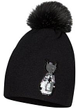 Зимняя шапка для девочки арт.CAMILLA р.51,53, фото 2