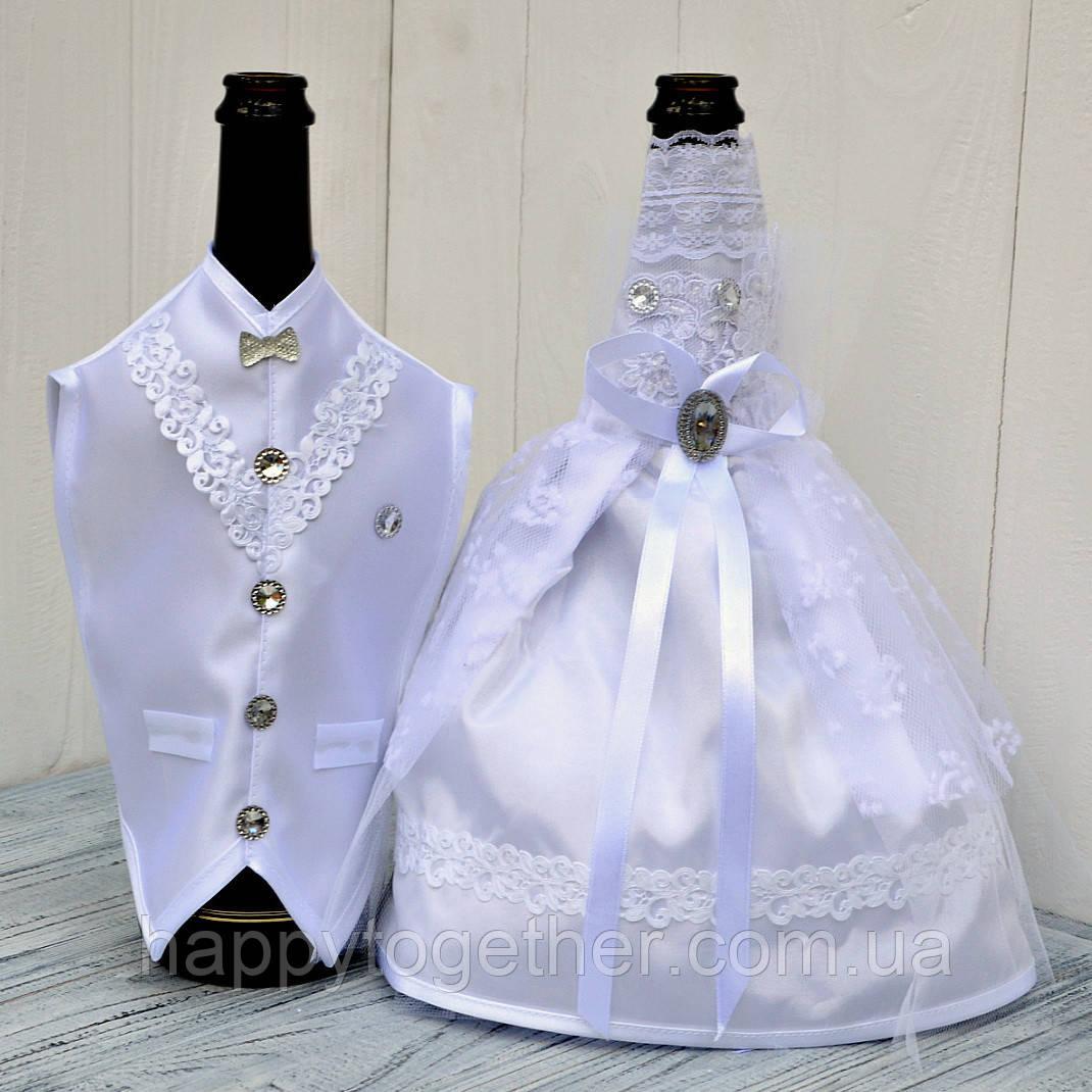 Свадебная одежда на шампанское белая