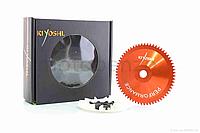 Щека варіатора зовнішня тюнінг GY6 80/100 алюміній  зірка крильчатка KIYOSHI Тайвань