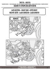 Защитные дуги GIVI TN3116 для мотоцикла SUZUKI V-STROM 250