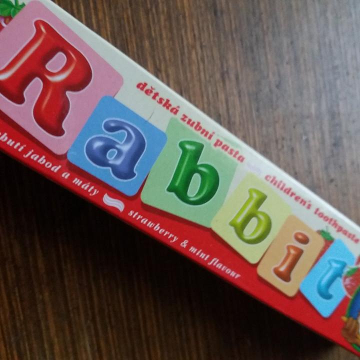 Детская зубная паста Rebbit -вкус: клубничка.45г.Венгрия