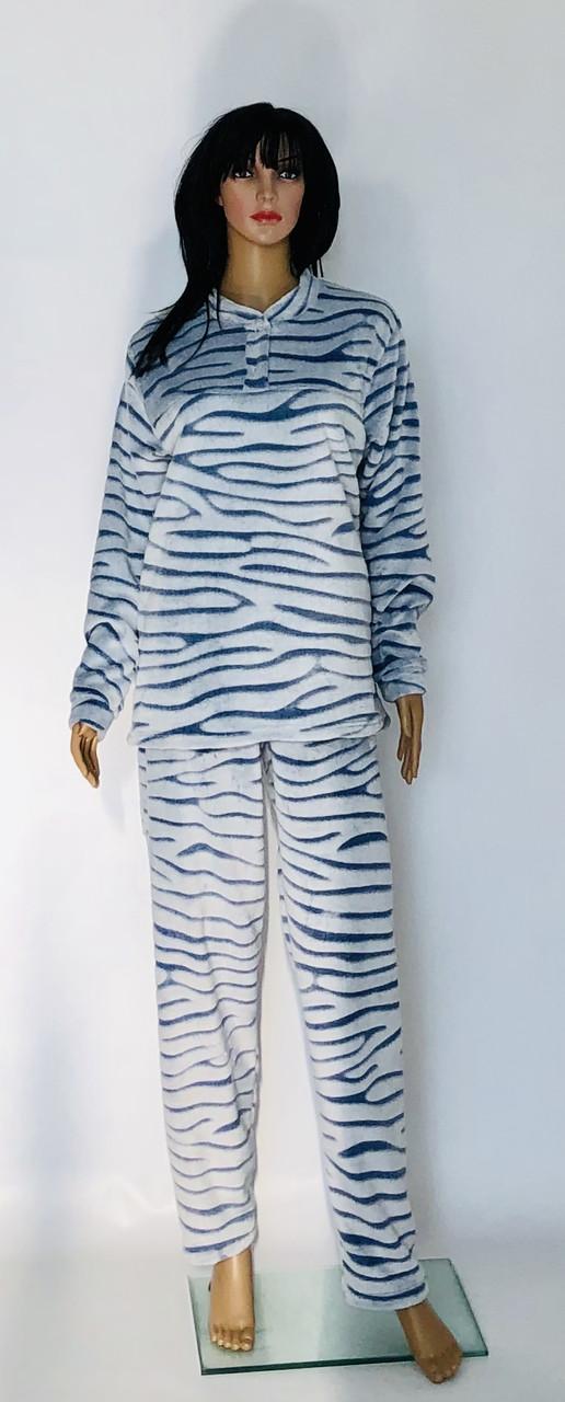 Женская махровая пижама шиншилла