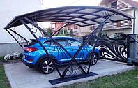 Кованый автомобильный навес необычного дизайна Unic.