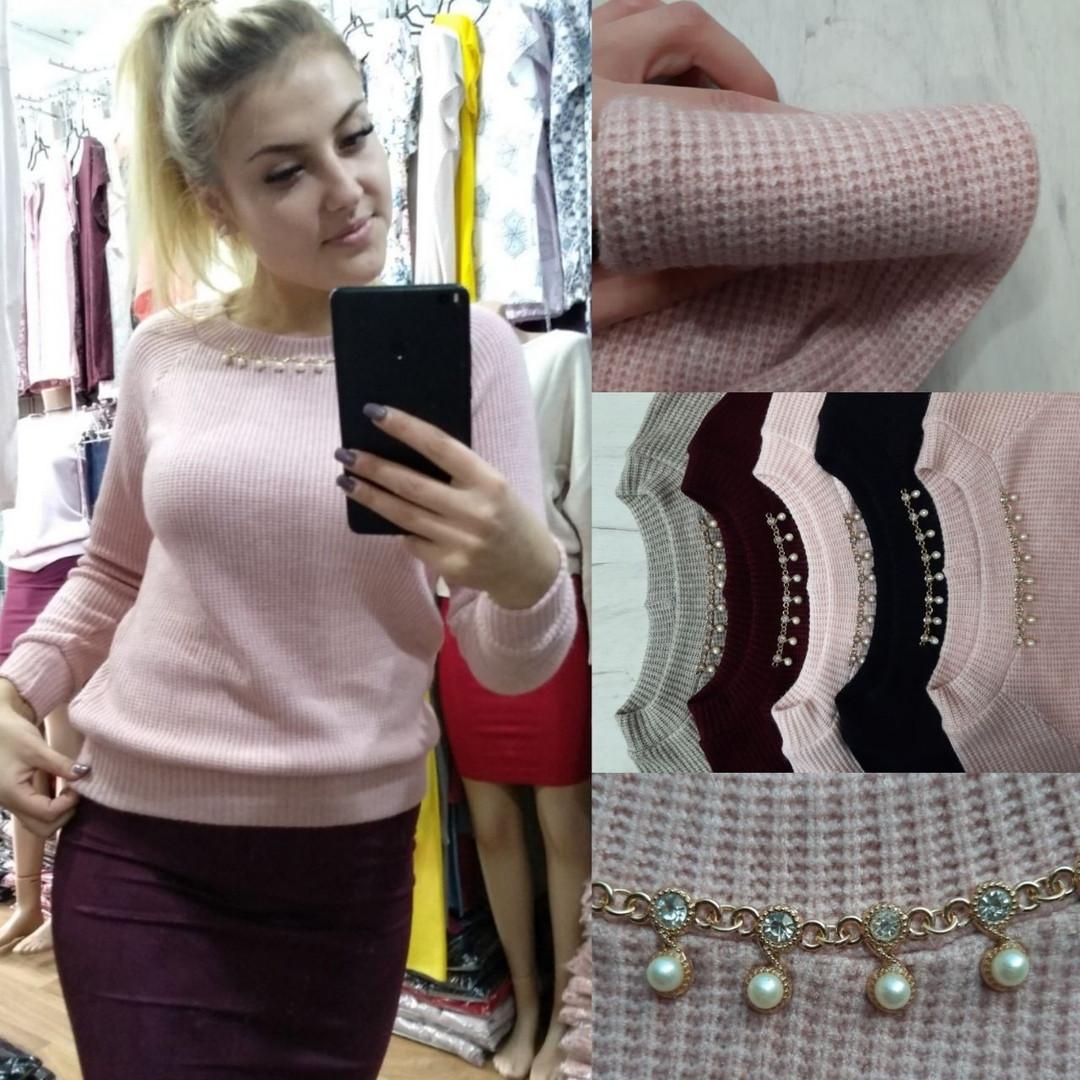 Женский модный свитер  ИД0128-1