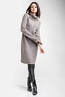 Теплое модное вязаное платье - свитер крупной вязки, фото 1