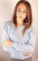 Стильный женский свитер с бахромой.Турция!