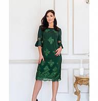 Женственное, нарядное и привлекательное платье №745-1-зеленый, фото 1