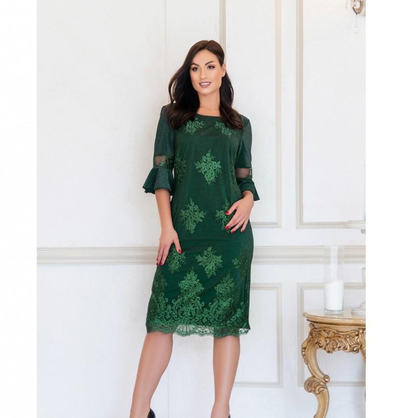 Женственное, нарядное и привлекательное платье №745-1-зеленый