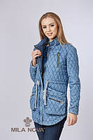 Куртка котон джинс синяя
