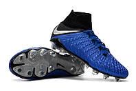 Футбольные бутсы Nike Hypervenom Phantom III Elite DF FG Racer Blue/Metallic Silver/Black/Volt, фото 1