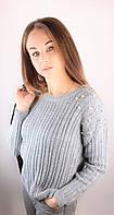 Серый женский свитер осень-зима.Турция!