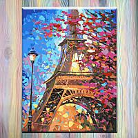 "Картина по номерам, 40х50 см, Городской пейзаж ""Краски Парижа"", холст на подрамнике, без коробки без коробки"