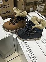 Детские зимние ботинки на овчине для мальчиков оптом Размеры 18,19