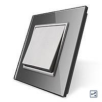 Клавішний прохідний вимикач Livolo сірий (VL-C7K1S-15)