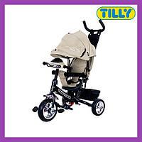 Велосипед трехколесный TILLY TITAN (T-348 Серый), музыкальная фара, надежная рама, Тилли Титан