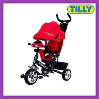 Велосипед трехколесный TILLY TITAN (T-348 Червоний), музыкальная фара, надежная рама, Тилли Титан