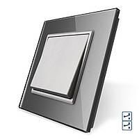 Клавішний перехресний вимикач Livolo сірий (VL-C7K1S2-15)