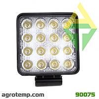 Фара светодиодная квадратная LED (16 диодов) 12-24В 48Вт
