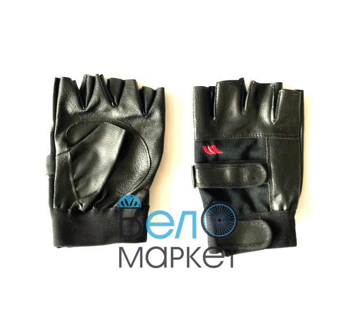 Перчатки велосипедные без пальцев, размер М, L, XL,черные
