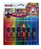 Мелки для лица неоновые (карандаши, краски для грима)