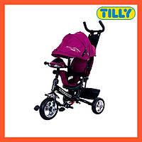 Велосипед трехколесный TILLY TITAN (T-348 Фіолетовий), музыкальная фара, надежная рама, Тилли Титан