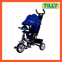 Велосипед трехколесный TILLY TITAN (T-348 Синій), музыкальная фара, надежная рама, Тилли Титан