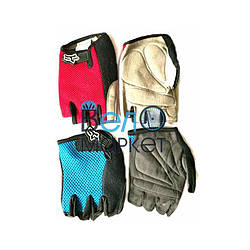 Перчатки велосипедные FOX, без пальцев , размер S ,L ,M