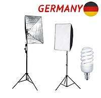 Студийный свет софтбокс + лампа + сумка + штатив фотостудия Германия