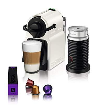 Капсульна кавоварка Nespresso Inissia Krups White (Неспрессо) + Капучинатор Nespresso Aeroccino 3