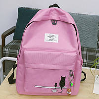 Рюкзак женский розовый с котом