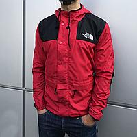 Куртка ветровка мужская The North Face красная