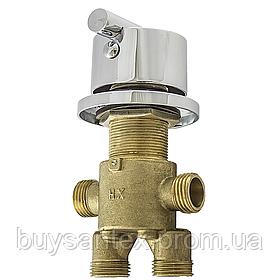 Кран для гидромассажной ванны ( CKL7000P ) встраиваемый в борт ванной для переключения положений на 2 режима.