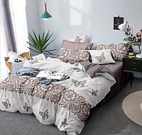 """Семейное постельное белье евро-размер с двумя пододеяльниками (12901) """"Сатин Люкс"""" хлопок 100% KRISPOL Украина, фото 1"""