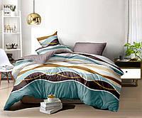 """Семейное постельное белье евро-размер с двумя пододеяльниками (12904) """"Сатин Люкс"""" хлопок 100% KRISPOL Украина, фото 1"""
