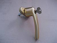 Оконная ручка RotoLine с ключем золото матовое