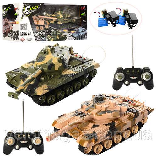 Ігровий набір танків (2 шт) з 26 см на радіокеруванні, з ПУ. Модель HB-DZ03