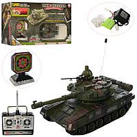 Игровой набор - танк с мишенью, 29 см,  на радиоуправлении, с ПУ, стреляет шариками, Модель YH4101D