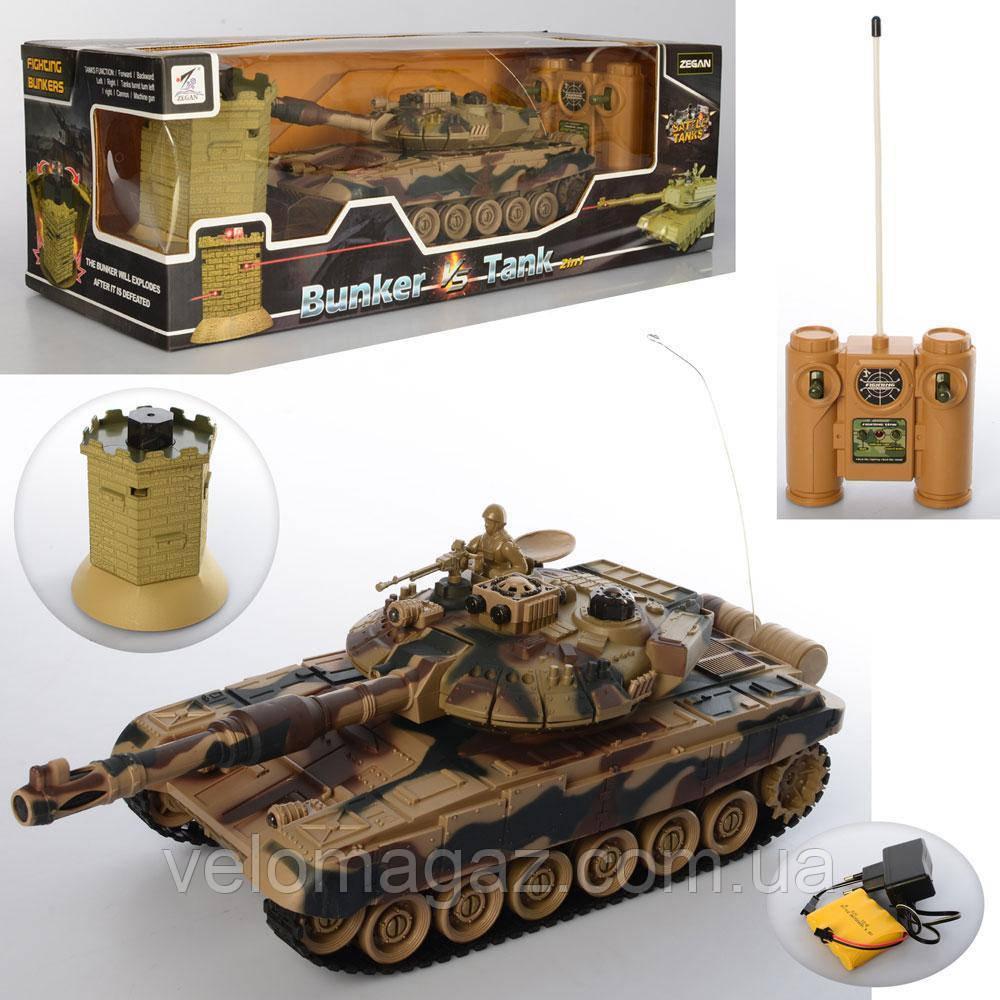 Игровой набор - танк с мишенью (13 см), на радиоуправлении, с ПУ, стреляет лазером, Модель 99861-62