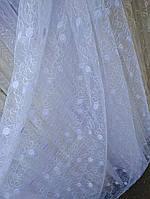 Тюль занавески Турция ширина 290 см сублимация 1348-белоснежный, фото 1