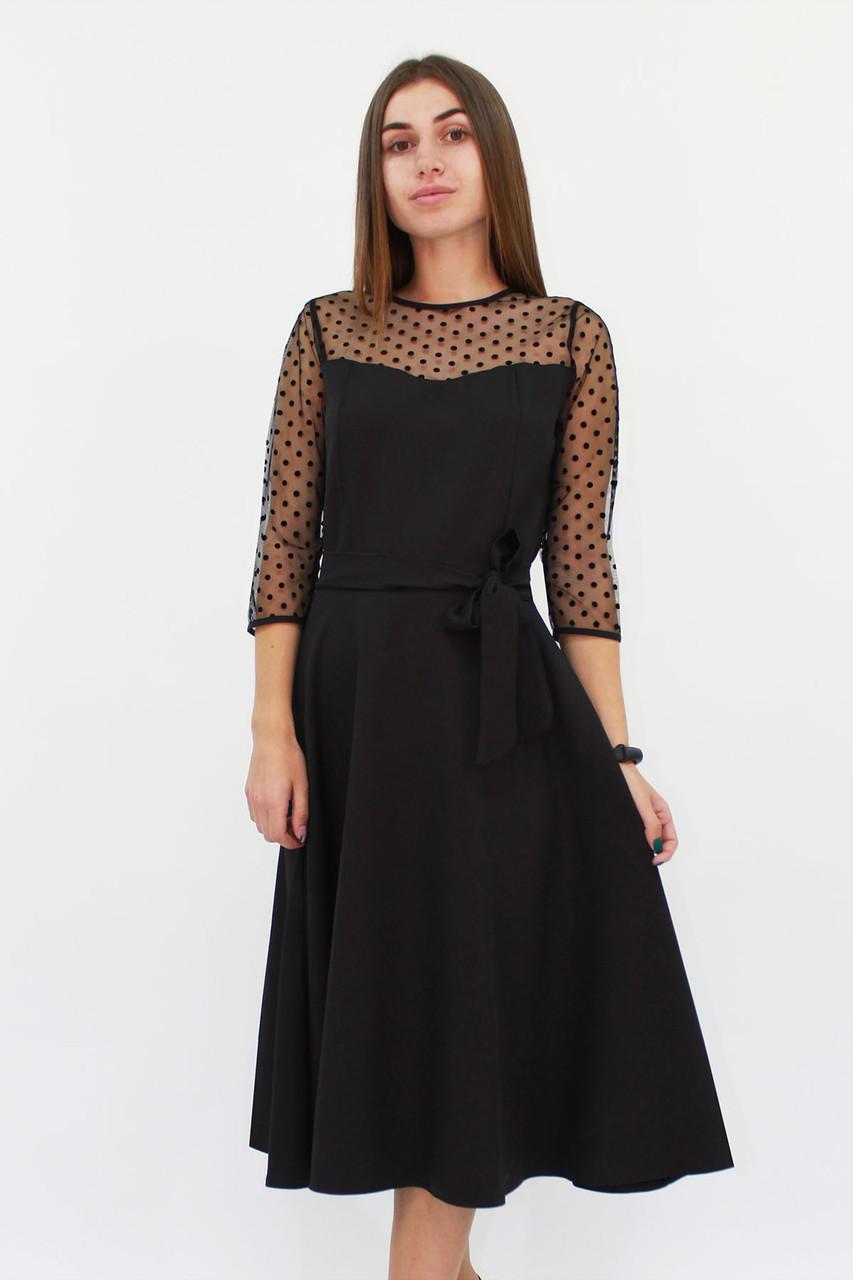 S (42-44) / Вишукане жіноче плаття Blade, чорний