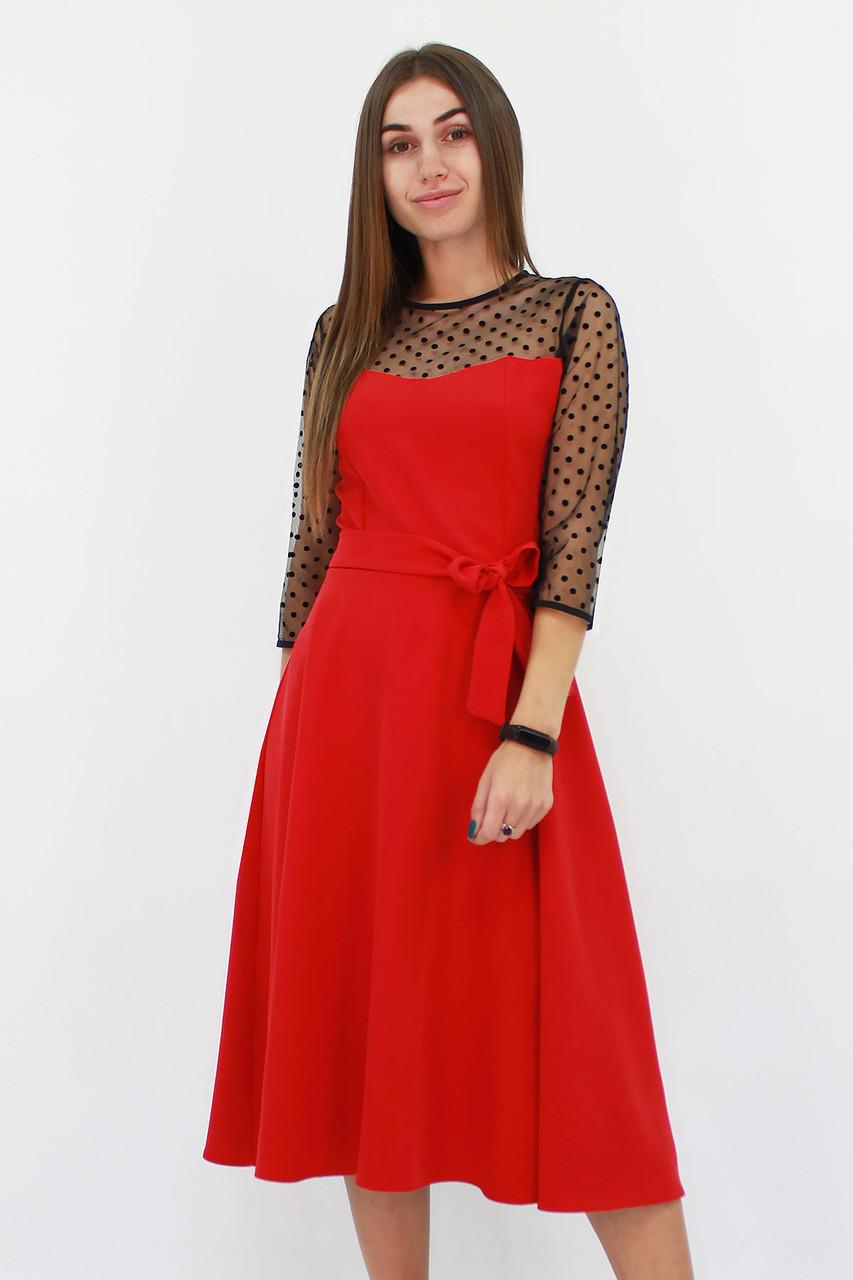 S, L | Вишукане жіноче плаття Blade, червоний