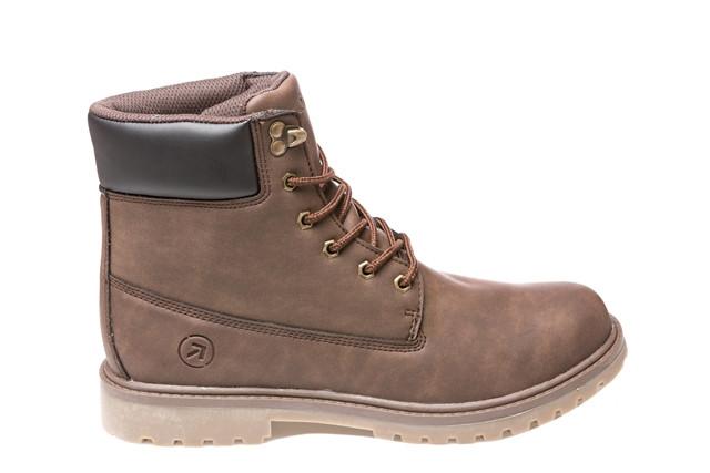 Зимние мужские ботинки Restime коричневые