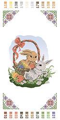 Дитячий Пасхальний рушник Кролики (РВ-Д-03)