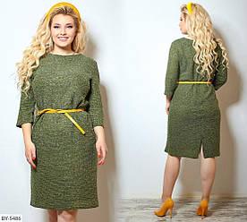 Стильное женское платье. Размер 48-50, 52-54, 56-58, 60-62. Ткань раго – шанель букле, производство Турция