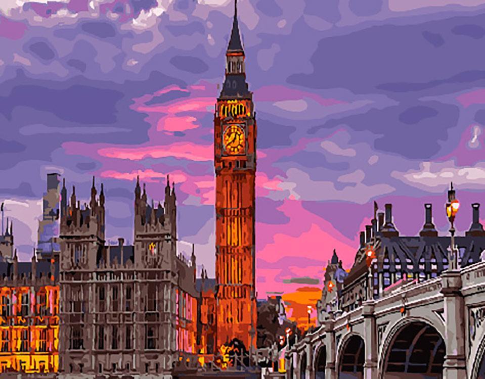 Картина по номерам Лондон на закате, 40x50 см., Brushme