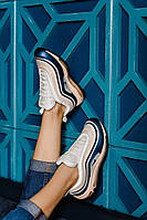 Женские кроссовки Nike Air Max 97, Blue/Beige сине-розовые. Размеры (36,37,38,39,40)