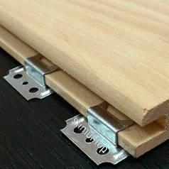 Кляймер для вагонки 1 мм (100 штук/упаковка) / Клипса для крепления террасной, палубной доски